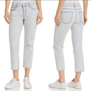 Current Elliott The Cropped Straight Jeans NWT 31